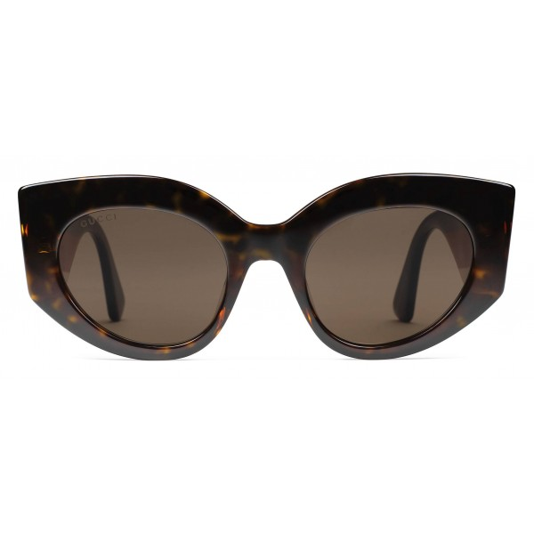 f0608607418 Gucci - Oversize Cat Eye Acetate Sunglasses - Sylvie Web Acetate - Gucci  Eyewear