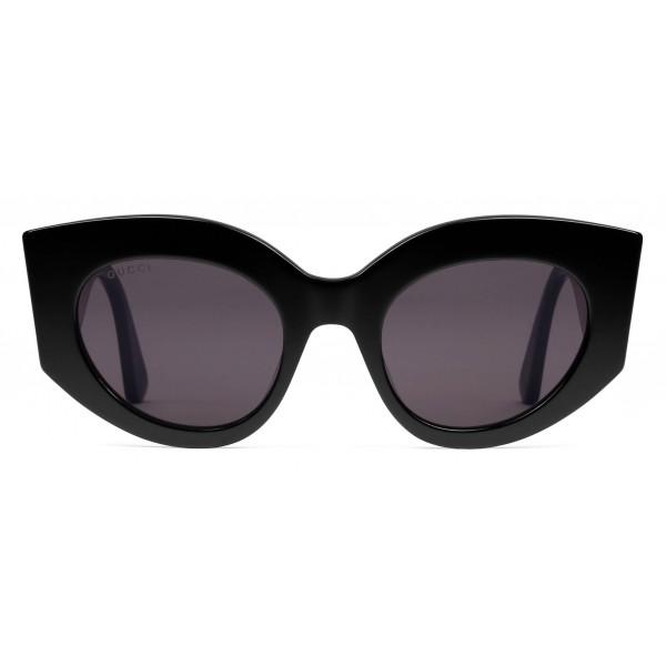 52a7388e54 Gucci - Oversize Cat Eye Acetate Sunglasses - Black Acetate - Gucci Eyewear