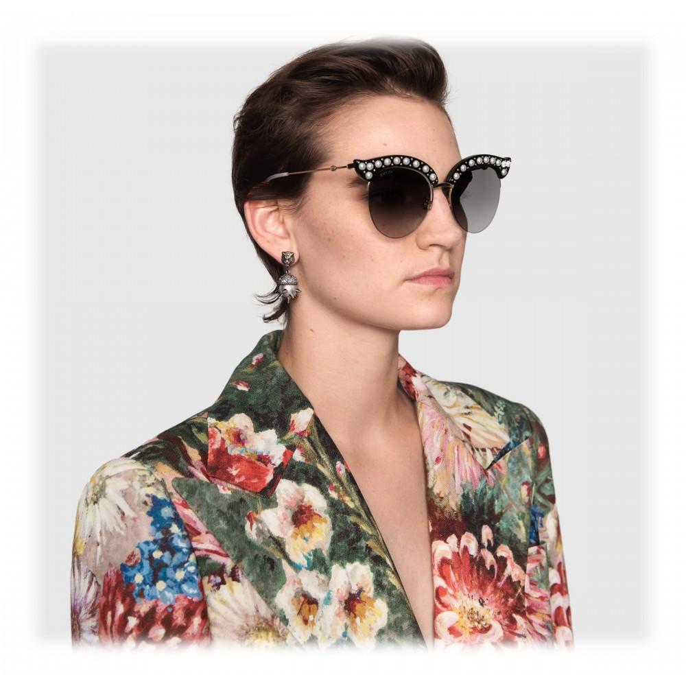 85aeca1fb48 ... Gucci - Cat Eye Acetate Sunglasses with Pearls - Black Acetate - Gucci  Eyewear