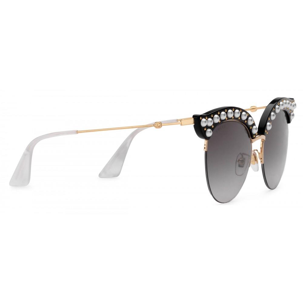 a4acdf85faf ... Gucci - Cat Eye Acetate Sunglasses with Pearls - Black Acetate - Gucci  Eyewear ...