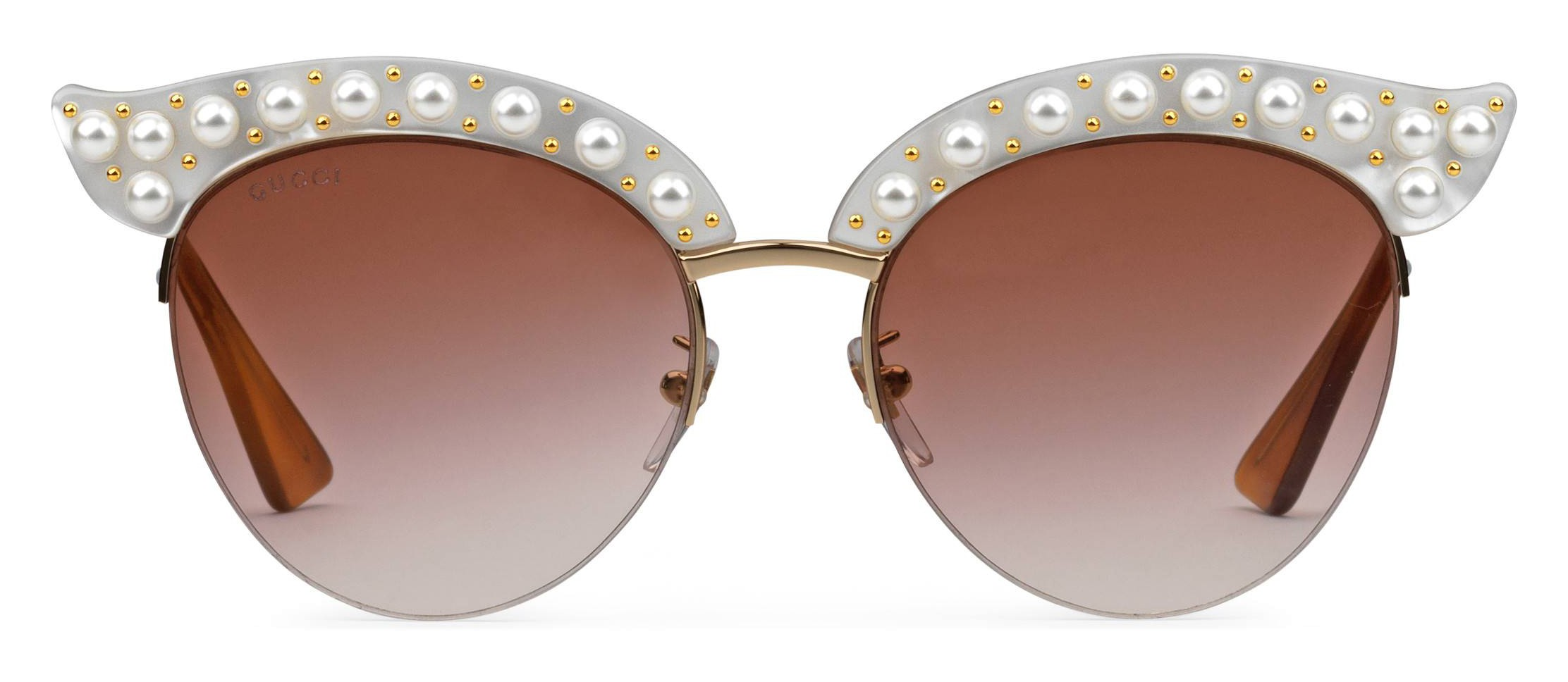 92a4490f79a Gucci - Cat Eye Acetate Sunglasses with Pearls - White Acetate - Gucci  Eyewear