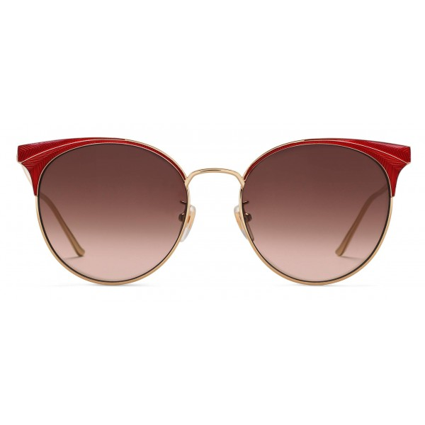 c55c675088a26 Gucci - Round Frame Metal Sunglasses - Red Enamle - Gucci Eyewear