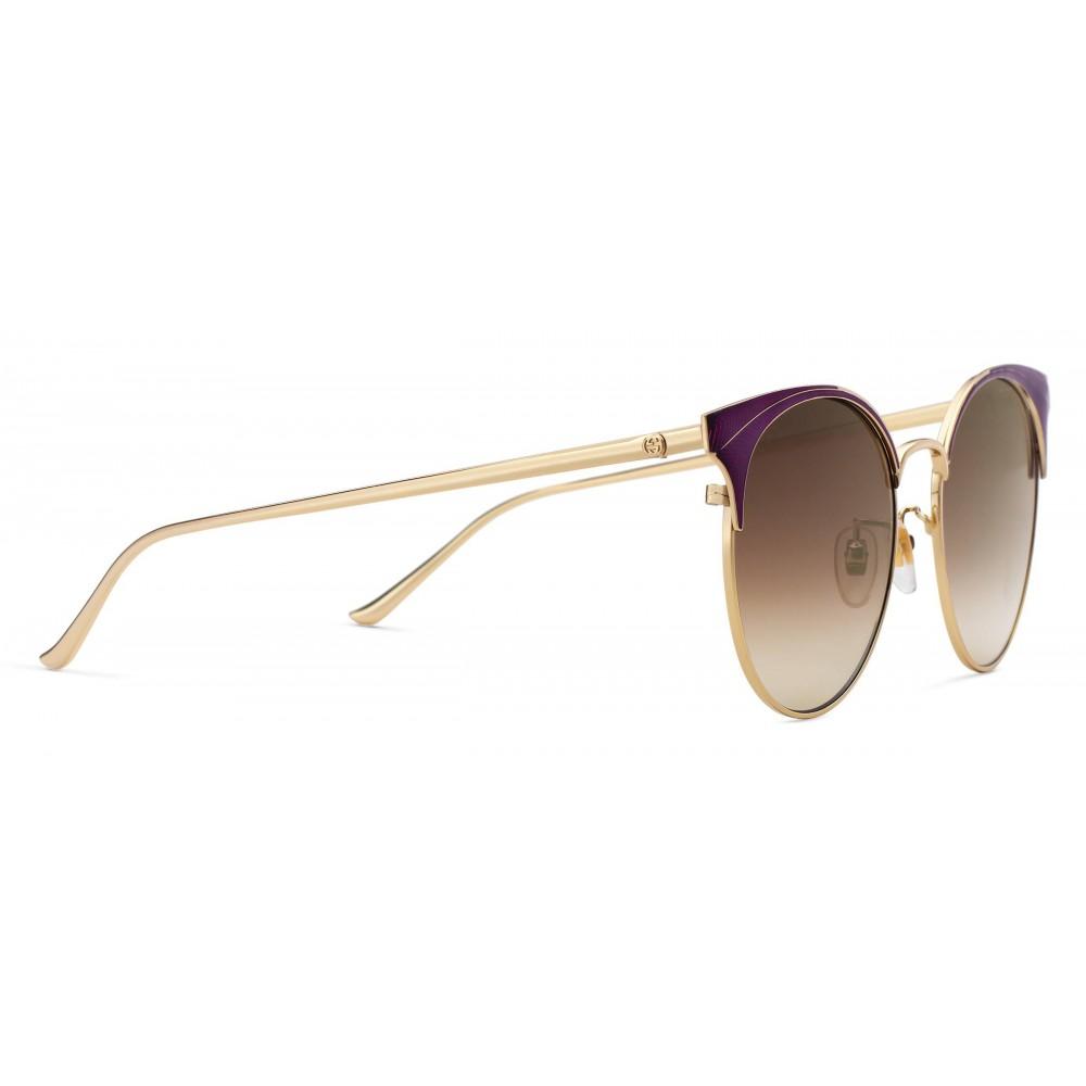 4233d0f76a ... Gucci - Round Frame Metal Sunglasses - Light Tortoiseshell - Gucci  Eyewear ...