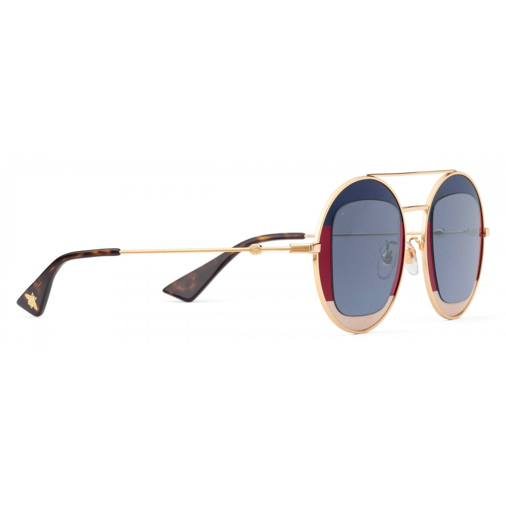 085d4b3442d Gucci - Round Frame Metal Sunglasses - Sylvie Web - Gucci Eyewear ...