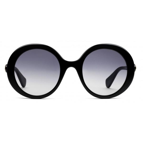 nuovi prezzi più bassi liquidazione a caldo così economico Gucci - Occhiali da Sole Rotondi in Acetato - Acetato Nero Lucido - Gucci  Eyewear - Avvenice