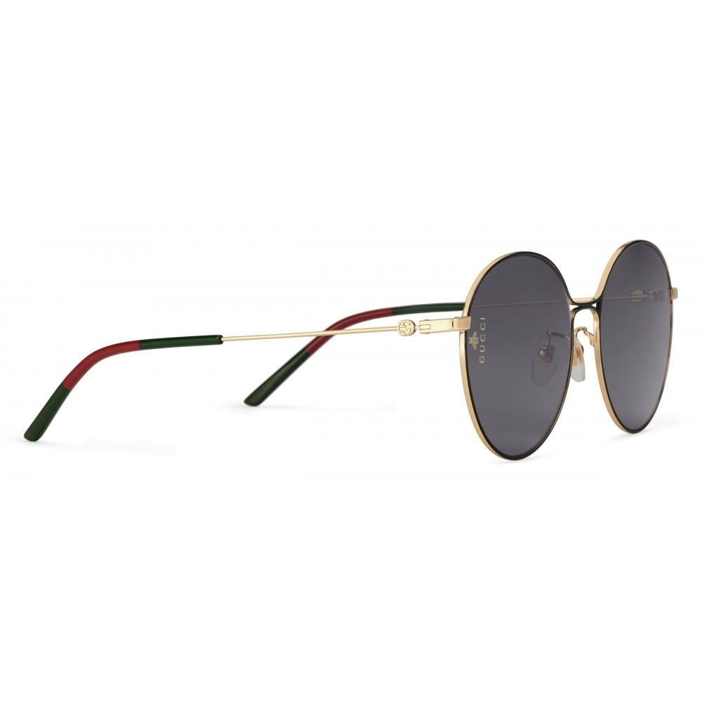 052f244b50a5 ... Gucci - Aviator Metal Sunglasses - Black Metal with Gold Details - Gucci  Eyewear ...
