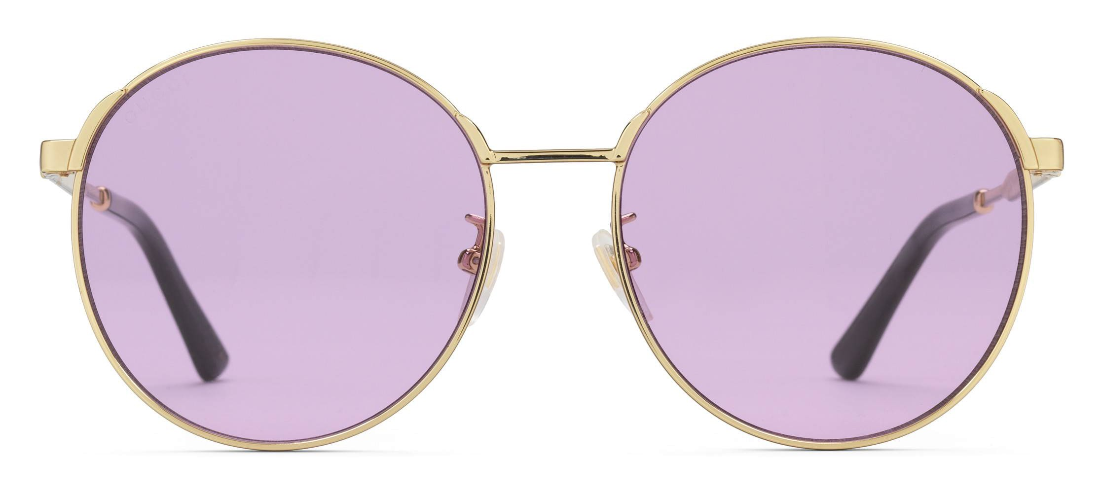 69ea09c40e9 Gucci - Round Frame Metal Sunglasses - Gold with Green and Red Web Detail -  Gucci Eyewear