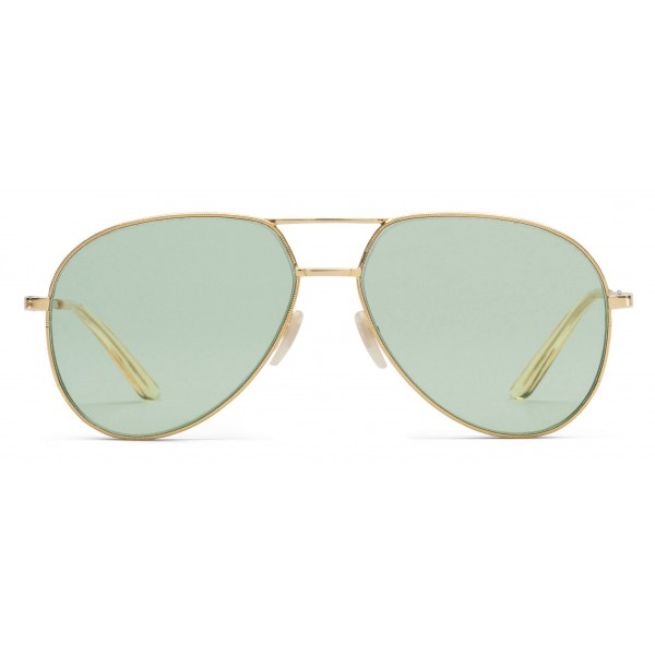 1162477b685 Gucci - Aviator Metal Sunglasses - Gold with Transparent Yellow Detail - Gucci  Eyewear