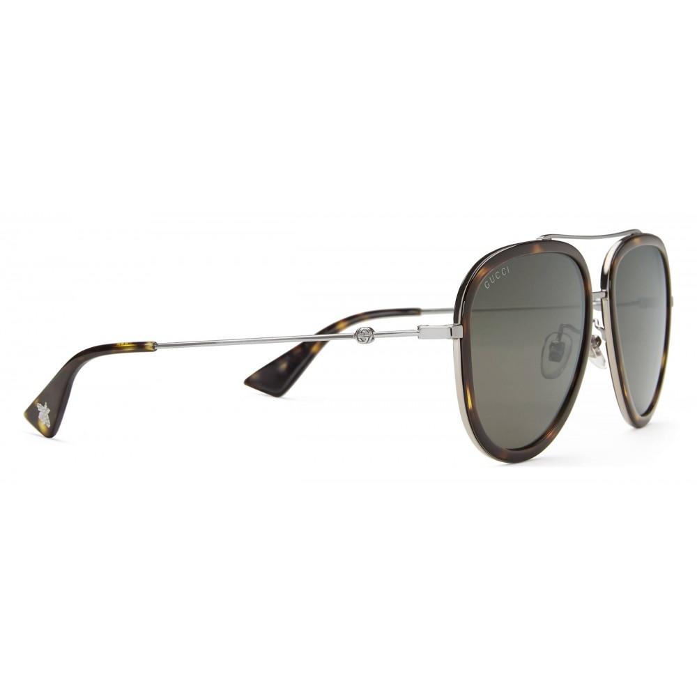 1e89386c44e ... Gucci - Aviator Acetate Sunglasses - Dark Tortoiseshell Acetate - Gucci  Eyewear