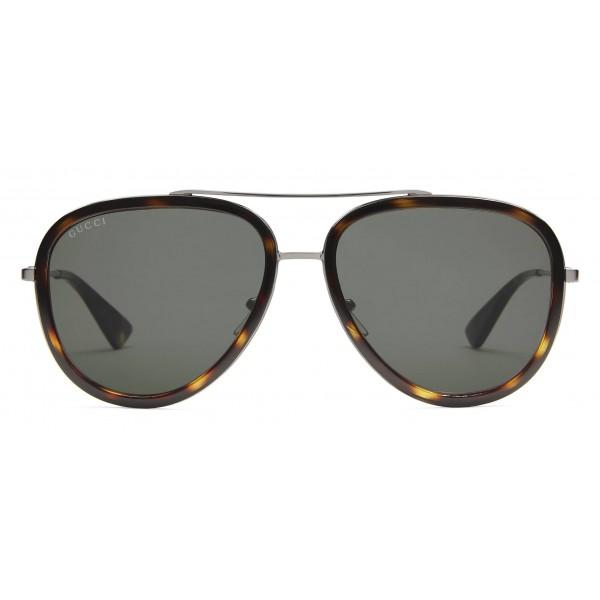 98c974e95e8 Gucci - Aviator Acetate Sunglasses - Dark Tortoiseshell Acetate - Gucci  Eyewear