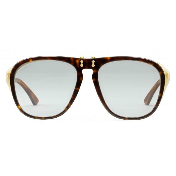 ab9d1e0ac9 Gucci - Round Frame Acetate Glasses - Dark Tortoiseshell - Gucci Eyewear