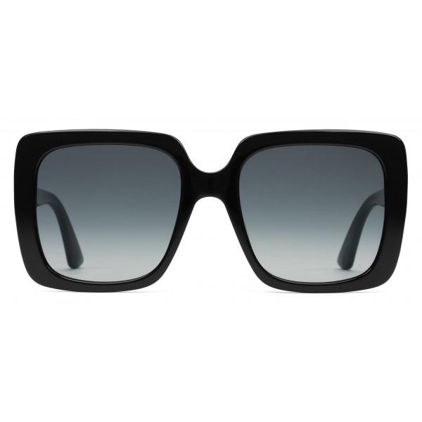 34f1be91e1 Gucci - Rectangular Acetate Sunglasses - Glossy Black Acetate - Gucci  Eyewear