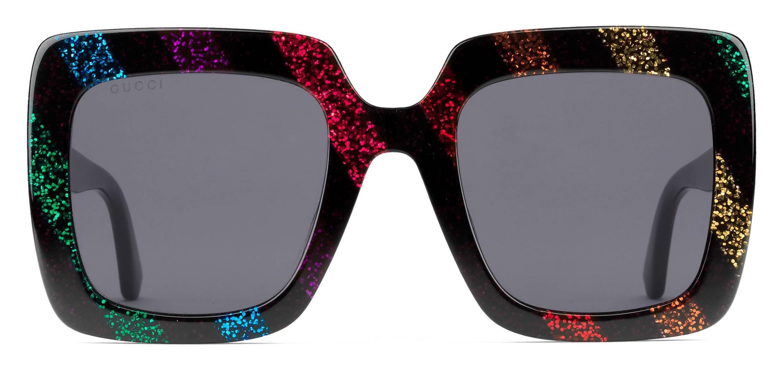 f1d46b19b Gucci - Acetate Square Sunglasses with Glitter - Rainbow Glitter Black - Gucci  Eyewear