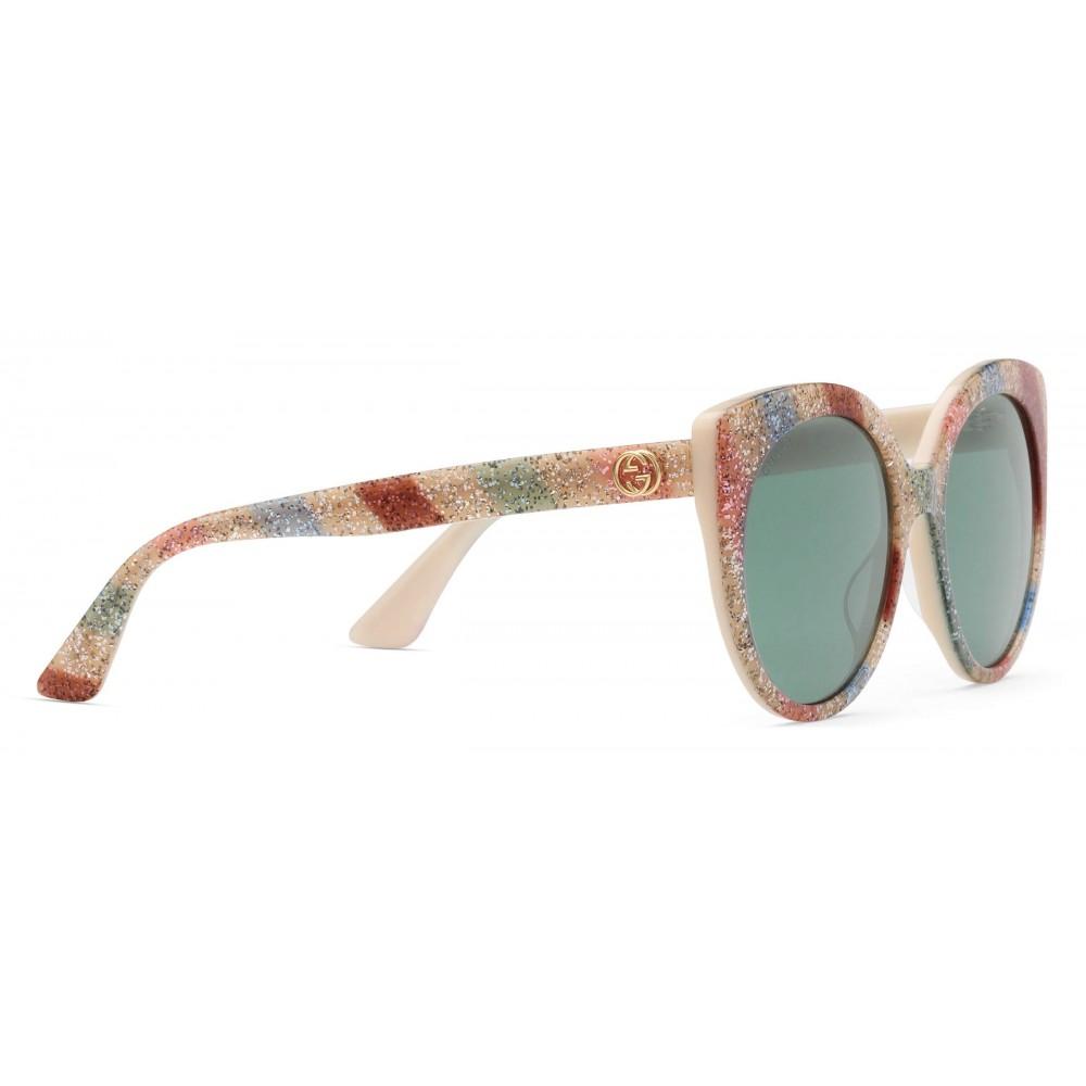 ff734689b ... Gucci - Cat Eye Sunglasses in Glitter Acetate - Light Ivory Acetate - Gucci  Eyewear ...