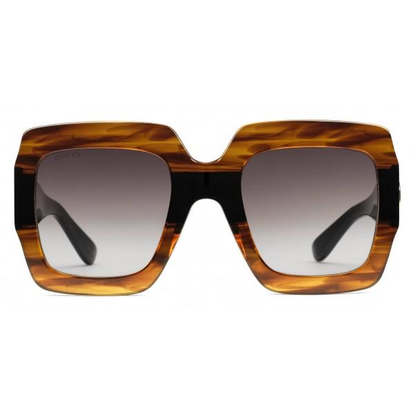 a6343a9e9 Gucci - Square Acetate Sunglasses - Black and Turtle Acetate - Gucci Eyewear