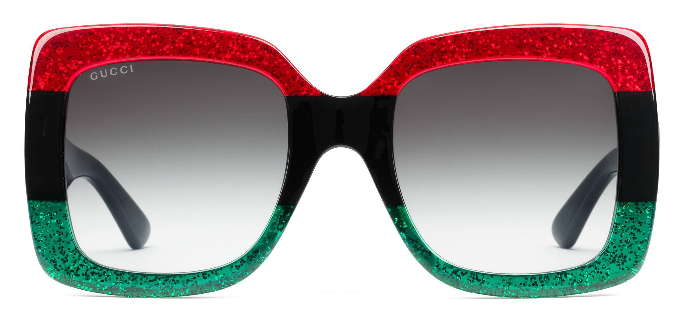 ba946d79123 Gucci - Acetate Square Sunglasses - Green Black and Red with Glitter - Gucci  Eyewear - Avvenice