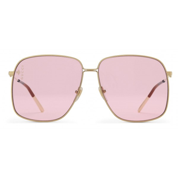 c011d0c1609 Gucci - Rectangular Metal Sunglasses - Shiny Gold - Gucci Eyewear ...