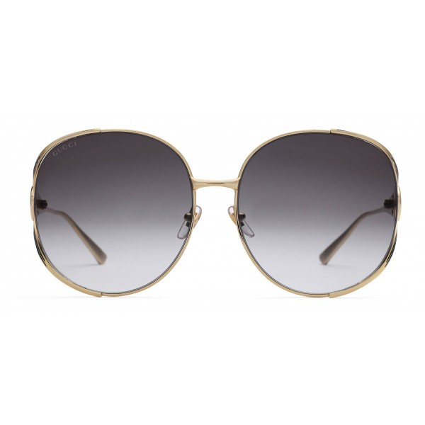 b45ea4897a27 Gucci - Round Metal Sunglasses - Gold with Enamel Crotch Detail and Web  Detail - Gucci