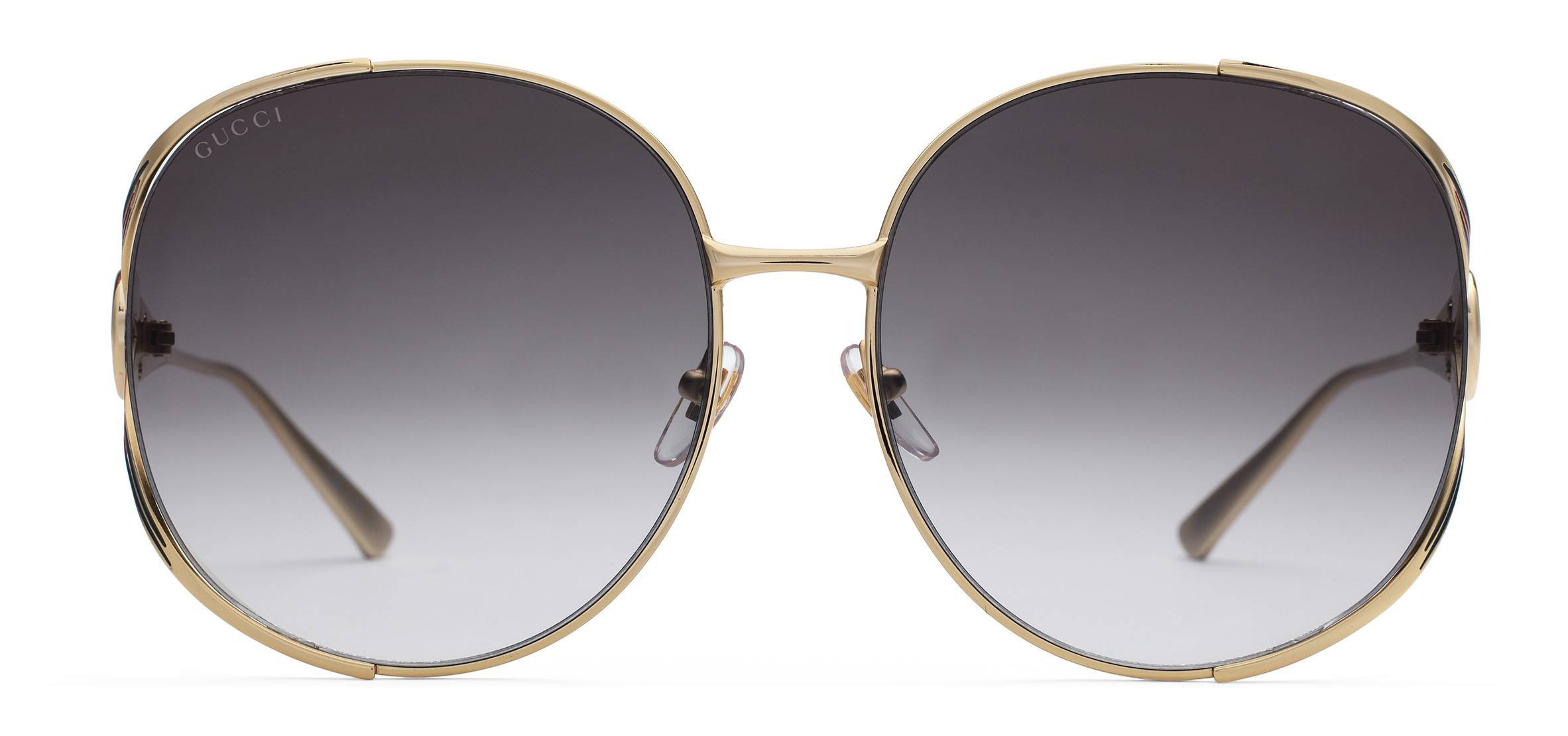 5c8cc763e9d0 Gucci - Round Metal Sunglasses - Gold with Enamel Crotch Detail and Web  Detail - Gucci Eyewear