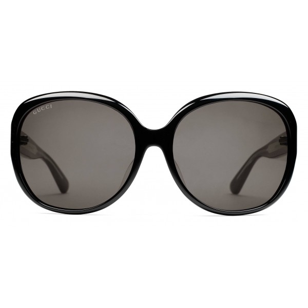 e5b9c0363dec Gucci - Oversized Round Sunglasses in Acetate - Black Acetate - Gucci  Eyewear - Avvenice