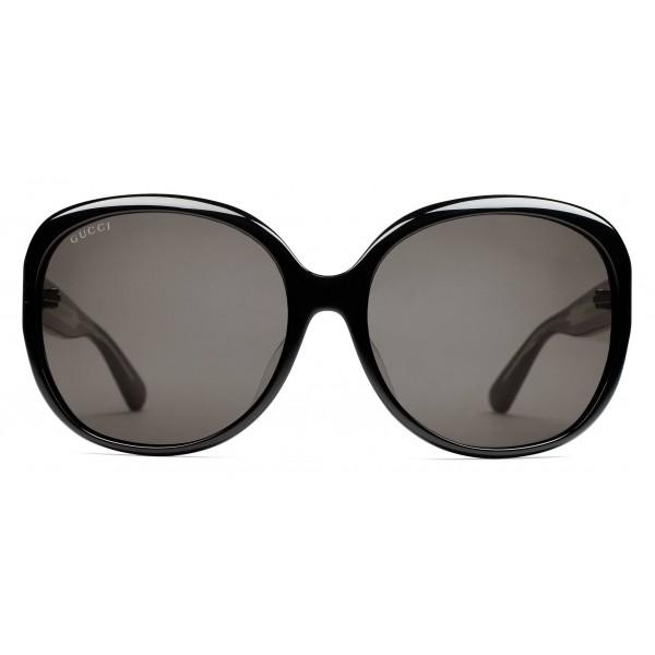 2ef1cc7cb8 Gucci Oversized Black Sunglasses - Image Of Glasses