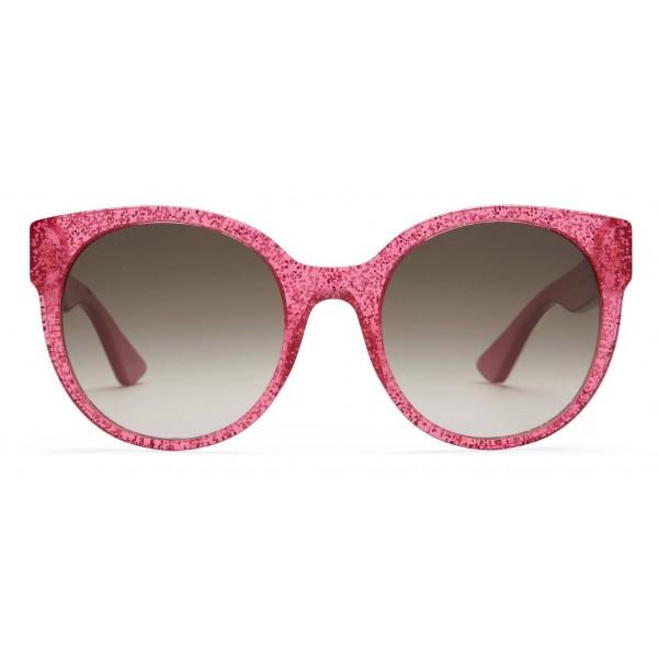 0c84f6133 Gucci - Round Acetate Sunglasses - Fuchsia Glitter Acetate - Gucci Eyewear