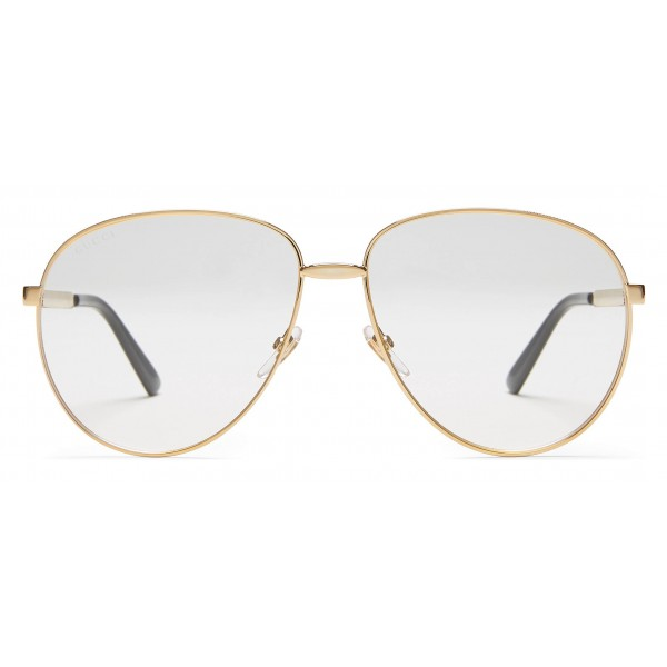 d1eae1b7d Gucci - Aviator Glasses with Web Detail - Gold Coloured Metal - Gucci  Eyewear