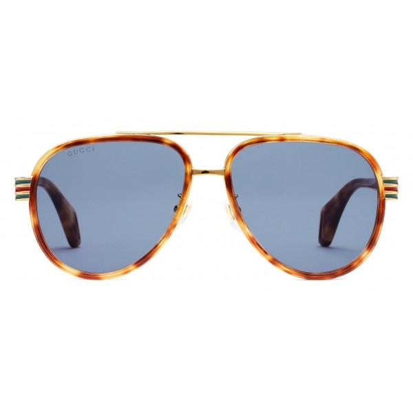 bfe0756a Gucci - SunglassesAviator - Light Turtle Acetate - Gucci Eyewear - Avvenice