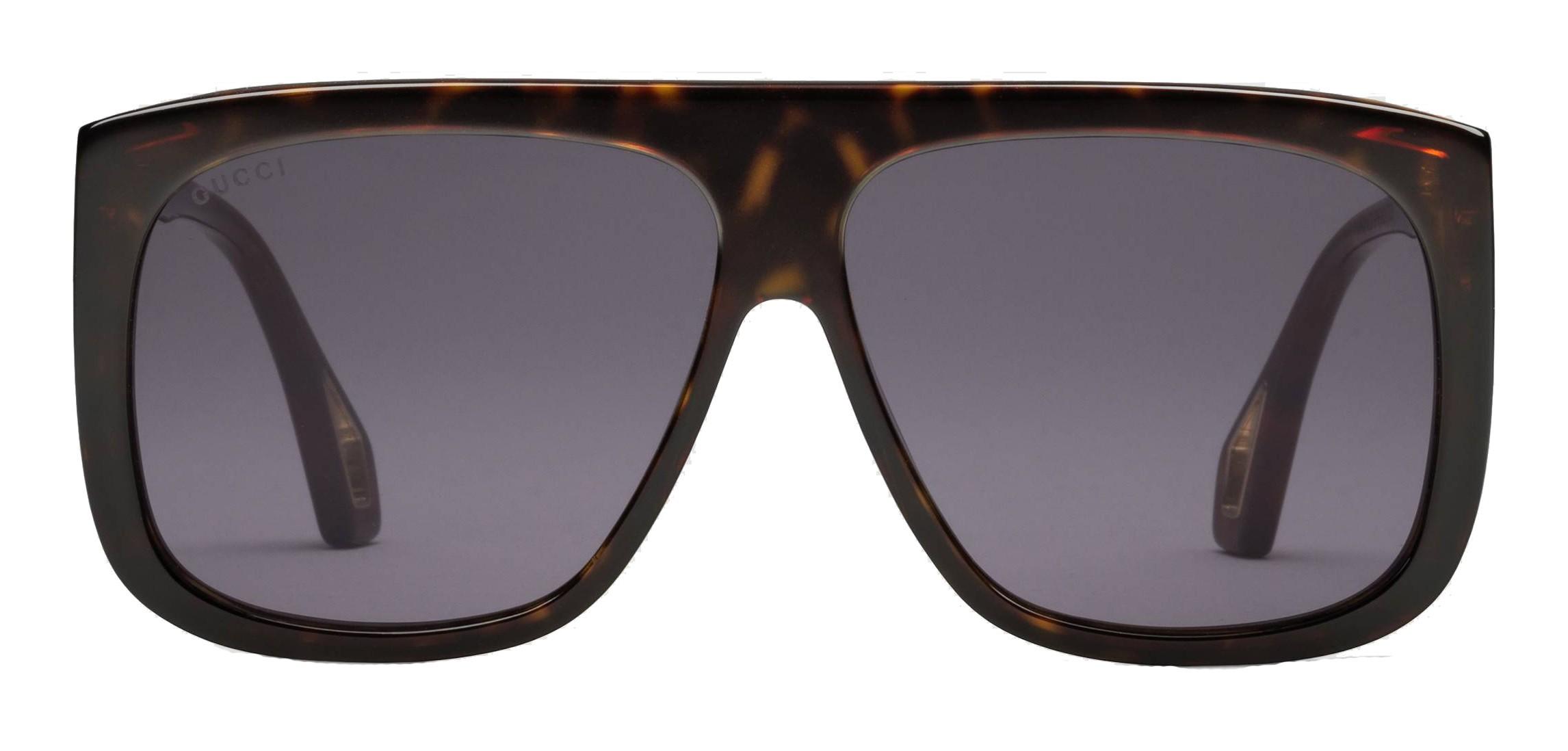05c9aa906d Gucci - Occhiali da Sole Quadrati con Protezioni Laterali - Ambra  Tartarugato Lucido - Gucci Eyewear - Avvenice