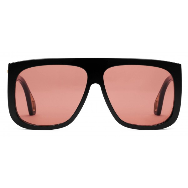db7e2770760 Gucci - Square Sunglasses with Side Protections - Glossy Black Acetate - Gucci  Eyewear