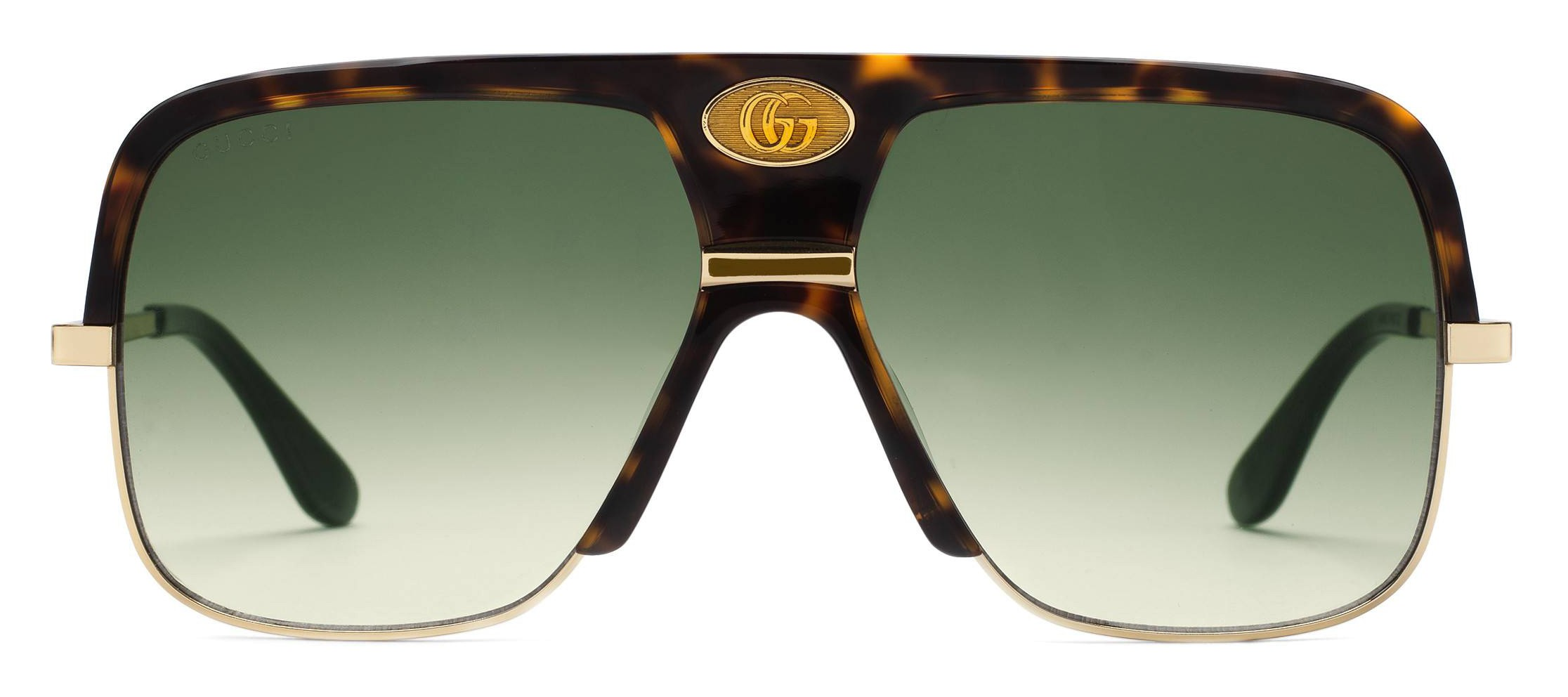 d40e53fb437 Gucci - Navigator Sunglasses with Double G - Dark Turtle Acetate and Gold  Metal - Gucci Eyewear