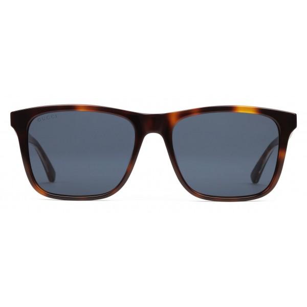 f4371e3368f Gucci - Rectangular Acetate Sunglasses - Light Turtle Acetate - Gucci  Eyewear