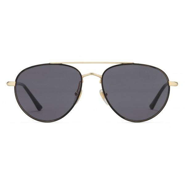 15ec4e06b8ca Gucci - Metal Aviator Sunglasses - Shiny Gold with Black Border - Gucci  Eyewear