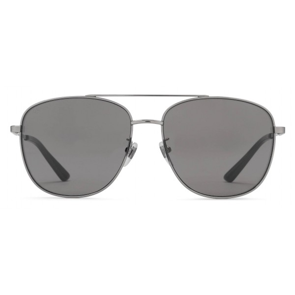 5b7de292 Gucci - Navigator Sunglasses in Metal - Glossy Ruthenium - Gucci Eyewear