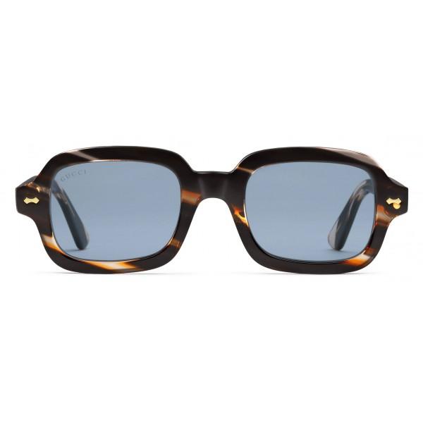 7ffda7b5a69 Gucci - Rectangular Acetate Glasses - Turtle Striped Acetate - Gucci Eyewear
