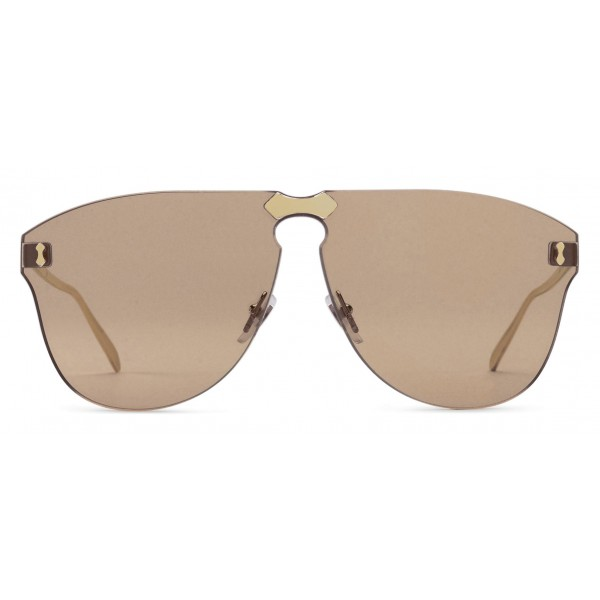 45f98f6c2b2 Gucci - Aviator Sunglasses Without Frame - Gold Lenses Light Brown - Gucci  Eyewear - Avvenice