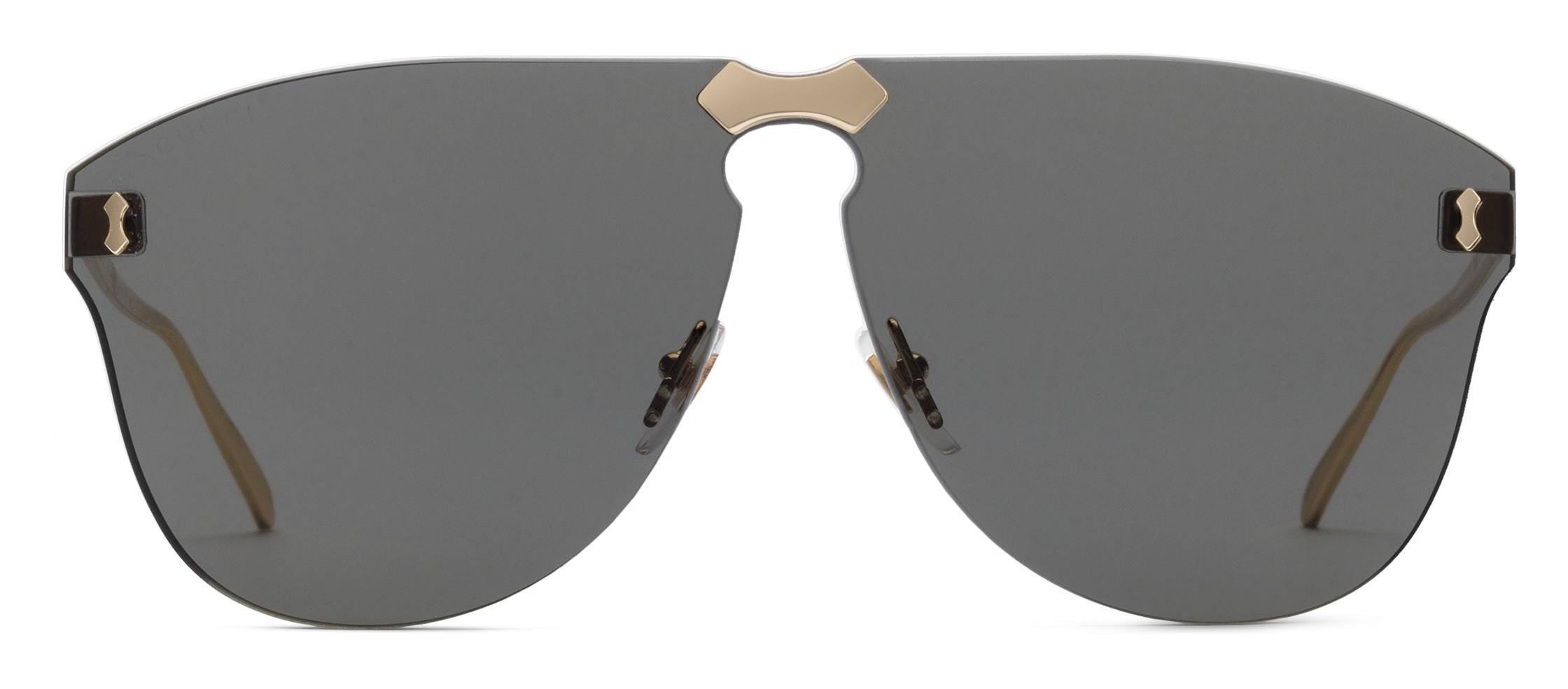 8ce23c4db9 Gucci - Frameless Aviator Sunglasses - Grey Gold Lenses - Gucci Eyewear -  Avvenice