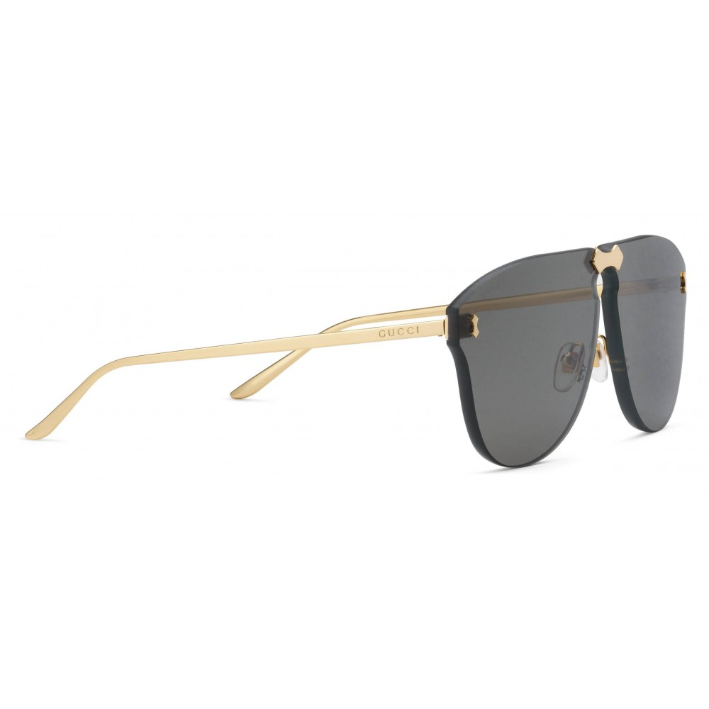 e1733b89f0 ... Gucci - Frameless Aviator Sunglasses - Grey Gold Lenses - Gucci Eyewear  ...