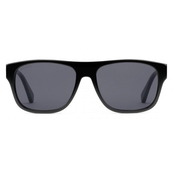 6fcd08330eee Gucci - Rectangular Acetate Sunglasses - Black Acetate - Gucci Eyewear