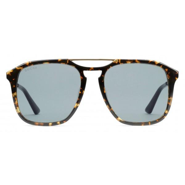 e5a438c5d Gucci - Square Acetate Sunglasses - Dark Spotted Turtle - Gucci Eyewear