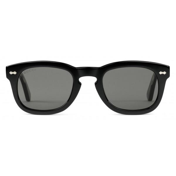 263ec2abed91 Gucci - Acetate Square Sunglasses - Acetate Black Lenses Grey - Gucci  Eyewear