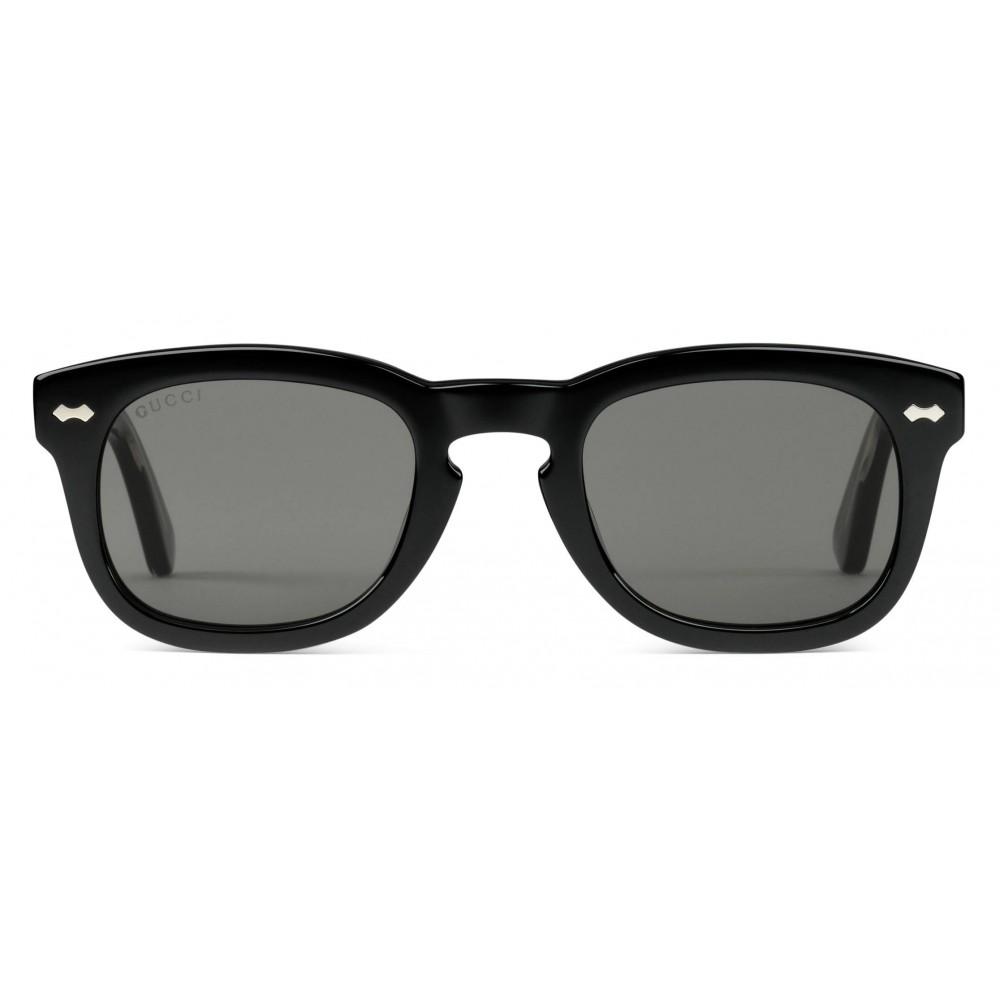b78bdc8a6 Gucci - Acetate Square Sunglasses - Acetate Black Lenses Grey - Gucci  Eyewear ...