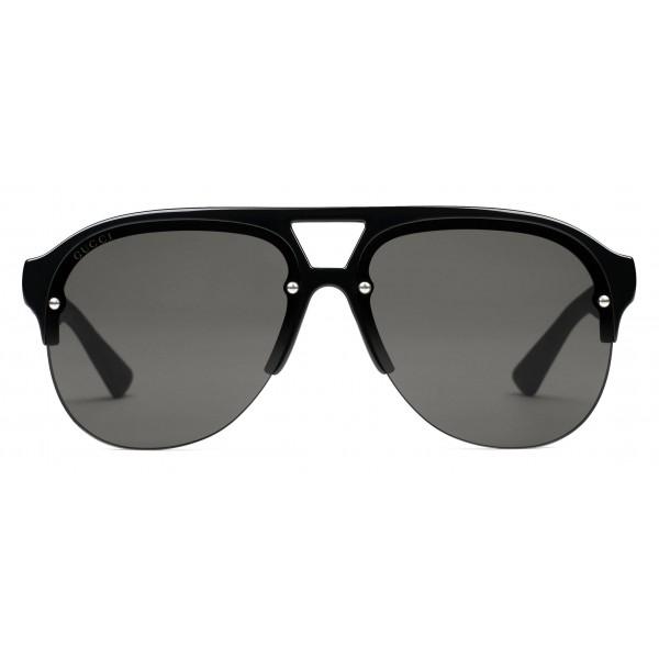 ca516db5f Gucci - Rubber Aviator Glasses - Black Injection - Gucci Eyewear ...