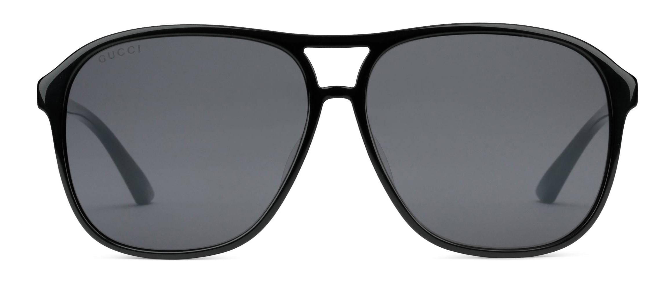450430f325a7 Gucci - Acetate Aviator Sunglasses with Optimal Fit - Acetate Black Lenses  Grey - Gucci Eyewear