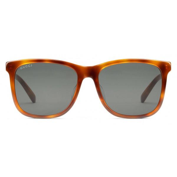 a7ec9107 Gucci - Squared Acetate Sunglasses - Turtle Acetate Clear Green Lenses -  Gucci Eyewear - Avvenice
