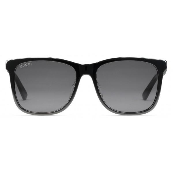 32da3b77bbdf Gucci - Squared Acetate Sunglasses - Black Acetate Grey Lenses - Gucci  Eyewear