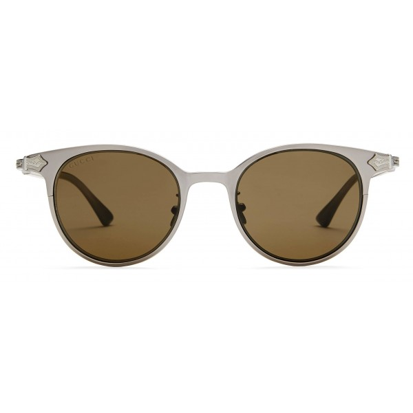 359acd085c7 Gucci - Round Titanium Sunglasses - Titanium Ruthenium Satin Matt - Gucci  Eyewear