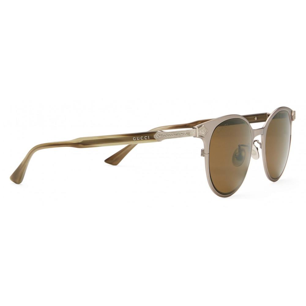 2a334dad4ca ... Gucci - Round Titanium Sunglasses - Titanium Ruthenium Satin Matt - Gucci  Eyewear ...