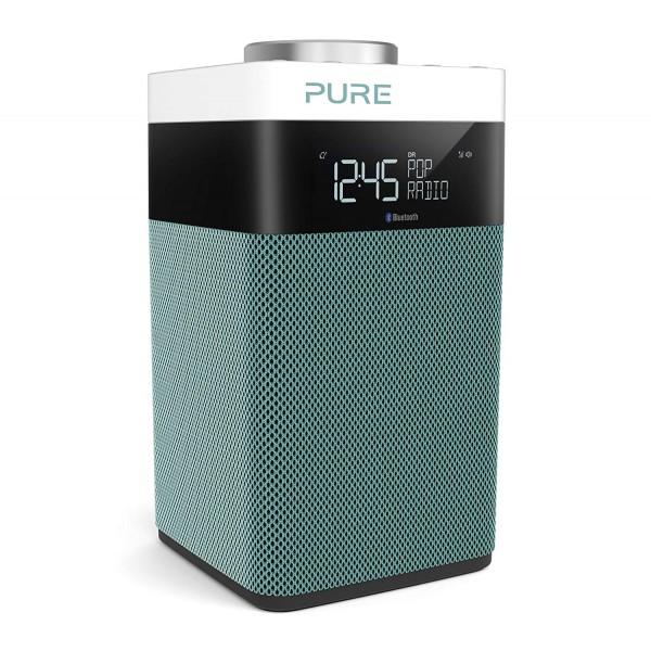 Pure - Pop Midi S - Menta - DAB / DAB + / Radio FM Compatta e Portatile con Bluetooth - Radio Digitale di Alta Qualità