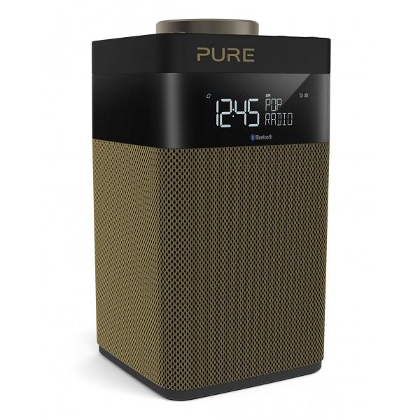 Pure - Pop Midi S - Oro - DAB / DAB + / Radio FM Compatta e Portatile con Bluetooth - Radio Digitale di Alta Qualità